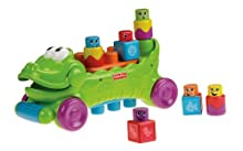 Fisher-Price Stack n Surprise Blocks Musical Croc Block Wagon