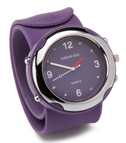 Addison Ross Unisex Slap Analogue Watch WA0001 with Purple Dial
