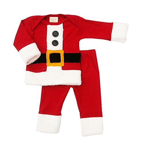 Xmas Christmas Santa Claus Costume Outfit Girls Baby Children Boy Kids Cute Suit