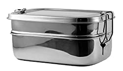 Stainless Steel Lunch Box - Three Tiered System - Metal Lunch Containers for Kids and Adults - Perfect Lunch Boxes for Dry Food