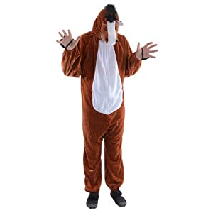 Horse Adult Animal Fancy Dress Halloween Costume One Size from wicked