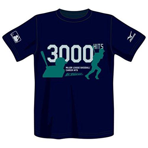 MIZUNO(ミズノ) イチロー選手 MLB3,000本安打達成記念 Tシャツ 12JA6Q9414O ネイビー O
