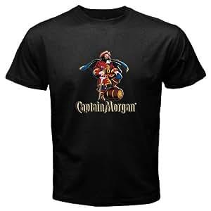 new product captain morgan rum liquor black t shirt size xl standard fit sports. Black Bedroom Furniture Sets. Home Design Ideas