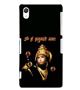 Sri Hanuman 3D Hard Polycarbonate Designer Back Case Cover for Sony Xperia Z2 :: Sony Xperia Z2 L50W D6502 D6503