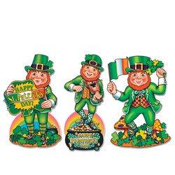 Pkgd St Patrick's Day Cutouts   (3/Pkg)