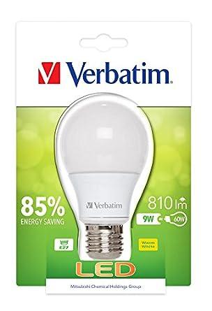verbatim verbatim 52601 led classic e27 9 watt 810 lm light bulb frost. Black Bedroom Furniture Sets. Home Design Ideas