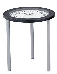 Clock Accent End Table Time Table Black