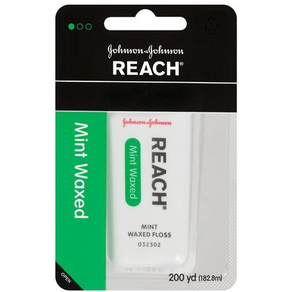 Reach Dental Floss, Mint, Waxed, 200 yd.