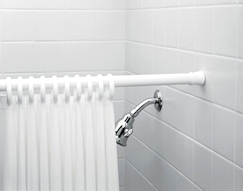 Zenna Home 683w Shower Curtain Rod Ring And Liner Combo Set White Hardware Plumbing Plumbing