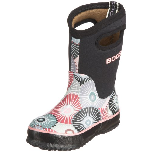 Bogs Junior Classic High Umbrellas Black Wellingtons Boot 52148 2 UK