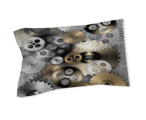 Thumbprintz Pillow Sham, Standard, New Punk 1-Gears front-458666