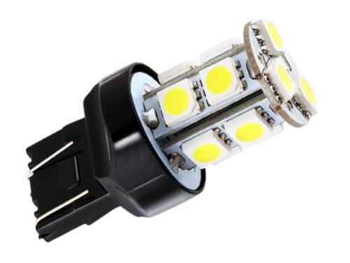 S&D Big Sale!!!7443 7440 13 Smd 5050 Pure White Stop Tail Brake Signal Led Car Light Bulb