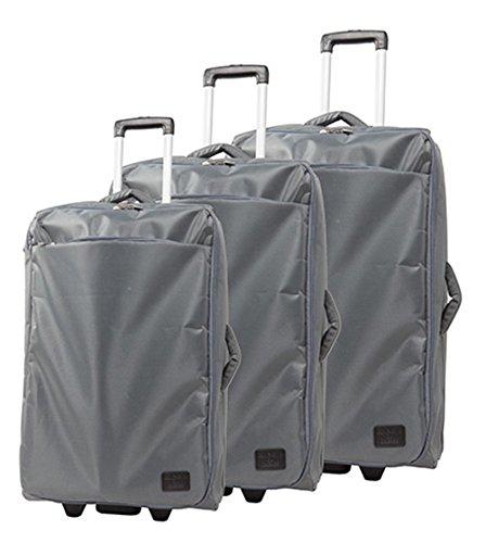 lot de 3 valises-chariots 2 roues roller transparentes - système trolley intérieur - Ultra légères - entièrement doublé