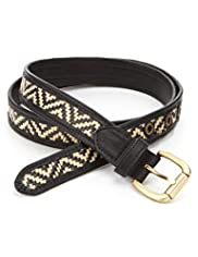 Square Buckle Raffia Weave Belt