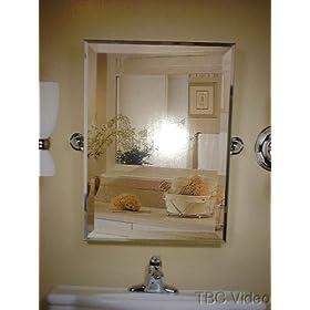 Amazon.com: Rectangular Bathroom Tilt Mirror - Chrome 19 x 26 with