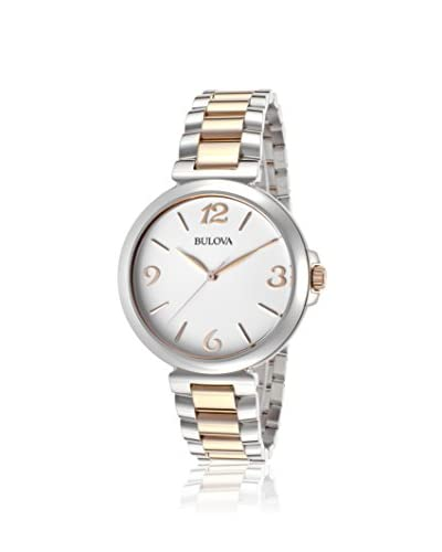 Bulova Women's 98L195 Silver-Tone/White Stainless Steel Watch