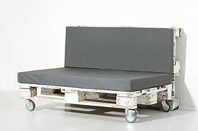 PALEMARE Palettenkissen Matratzenkissen RG50 Kunstleder 120x80cm mit/ohne Rückenlehne Bezug waschbar von Erlebnis Hund bei Gartenmöbel von Du und Dein Garten