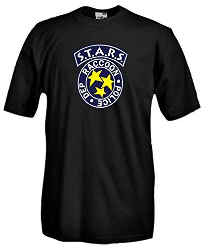 Settantallora - T-shirt Maglietta J442 S.T.A.R.S Resident Evil Taglia L