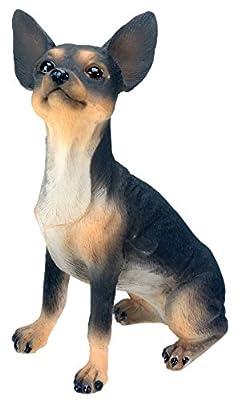 Chihuahua (Black) Dog - Collectible Statue Figurine Figure Sculpture