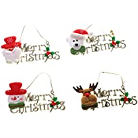Pack Of 4 Merry Christmas Hanging Decoration Wall Door Tree Christmas Hangings - B01KUZO690