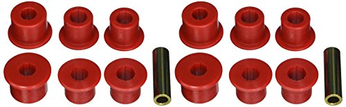 Prothane 14-1003 Red Rear Spring Eye and Shackle Bushing Kit (Nissan Polyurethane Bushings compare prices)