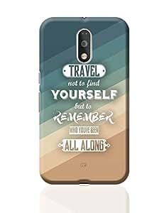 PosterGuy Moto G4 Plus Covers & Cases - Travel Quote | Designed by: Aditya Mehrotra AM