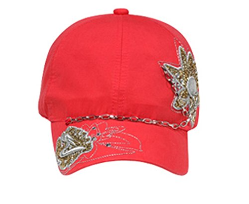 Hats & Caps Shop Glitter Metallic Embroidered Design with Rhinestones & Chain Caps - By TheTargetBuys