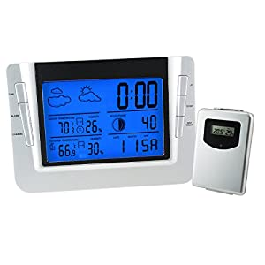 Gain Express Digital Wireless Indoor Outdoor Weather Station RCC Clock