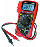 Triplett 9045 True RMS Autoranging Digital Multimeter with Voltmeter Ammeter Ohm Meter Continuity Duty-Cycles Capacitance Diode Frequency and Temperature Tester