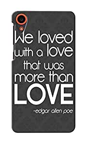 KnapCase Love Quote Designer 3D Printed Case Cover For HTC Desire 820