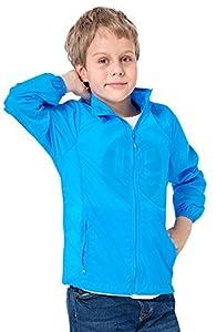 HengJia Summer Uni-sex Kids Ultra Lightweight Jacket UPF 50+ Dirt-resistant