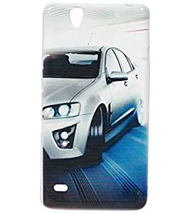 Car Exclusive Rubberised Back Case Cover For Sony Xperia C4 E5303