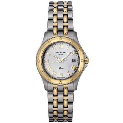 Raymond Weil Women's 5390-STP-00308 Tango 18k Gold-Plated and Stainless Steel Watch