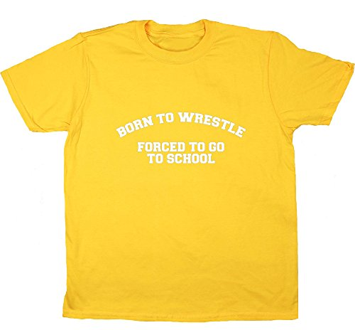 Wrestle HippoWarehouse Born to Be A scuola-Maglietta a maniche corte da bambino Margherita 8 anni