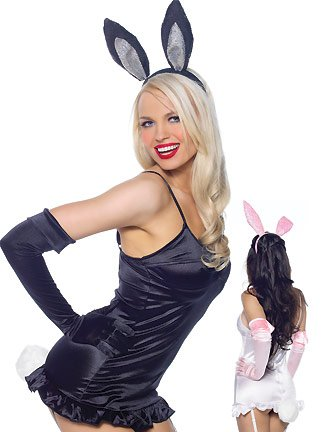 3Pc Bunny Accessory Kit Holiday Costume Party Accessory With Gloves, Bunny Ears, And Tail