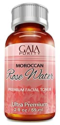 Rose Water, 2oz - Gaia Purity 100% Pure, All Natural