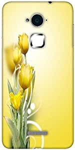 Snoogg beautiful yellow tulips background Hard Back Case Cover Shield For Coolpad Note 3 (White, 16GB)