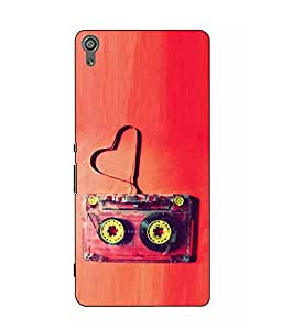 Make My Print Cassette Printed Red Hard Back Cover For Sony Xperia XA Dual