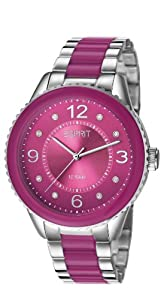 Esprit Marin Lucent Women's Quartz Watch with Pink Dial Analogue Display and Silver Stainless Steel Bracelet ES106192007