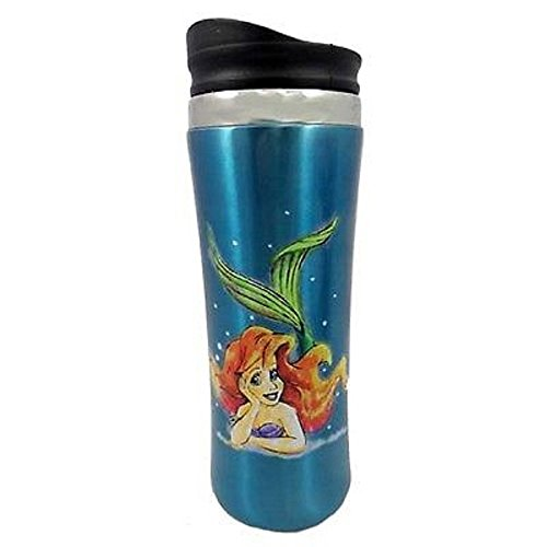 Disney Ariel Little Mermaid Travel Coffee Cup Mug Stainless Steel Theme Parks (Disney Coffee Travel Cup compare prices)