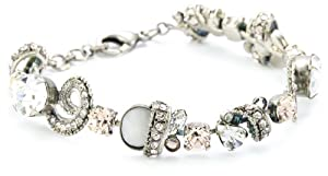 "Sorrelli ""Snow Bunny"" Neutral Crystal Aquatic Inspired Silver-Tone Bracelet"