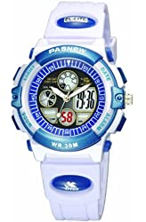 PASNEW 30m Water-proof Digital-analog Boys Girls Sport Digital Watch with Alarm Stopwatch Chronograph (Child) 6 Colors