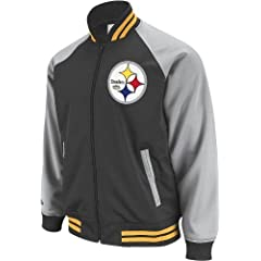 Pittsburgh Steelers Mitchell & Ness The Captain Vintage Premium Track Jacket by Mitchell & Ness