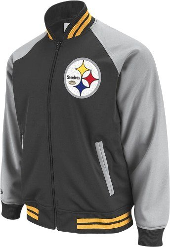 Pittsburgh Steelers Captain Vintage Premium Track Jacket - Large at Amazon.com