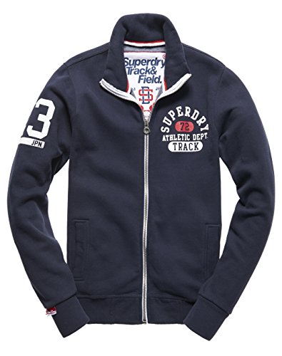 SUPERDRY Trackster Track, Top Uomo, Truest Navythg, L