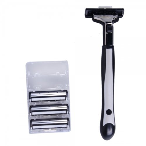 Baili Bp118 Four-Head Manual Safety Shaving Razor Black By Preciastore