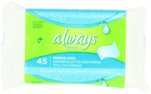 Imagen de Siempre Femenino Limpie Refill, 45-Conde paquetes (paquete de 4)