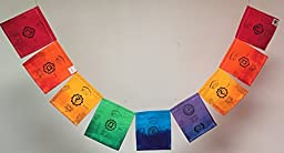 Chakras Prayer Flag, All proceeds to families in Mexico. Free domestic shipping.