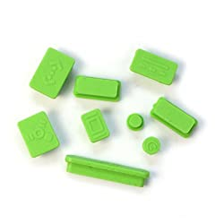 DNG 12pcs Anti-dust Silicone Plugs Cover Set for Retina Macbook Pro Retina 11 13 15 Green