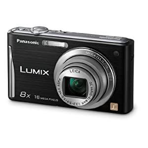 $120 Panasonic DMC-FH25K 16.1MP Digital Camera with 8x Wide Angle Image Stabilized Zoom and 2.7 inch LCD (Black)